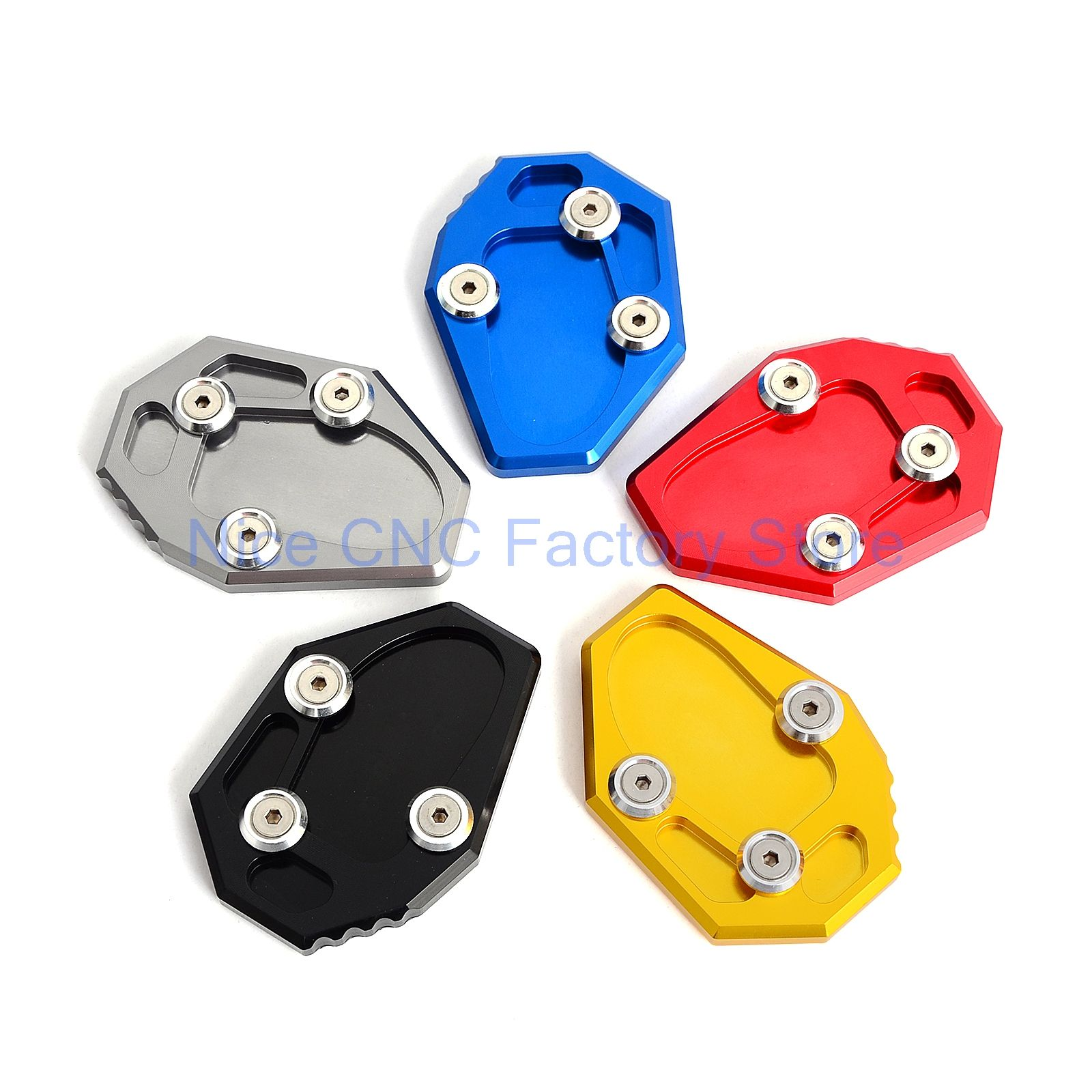 Motorcycle Kickstand Aluminum Enlarge Extension Side Stand Plate Enlarge For Yamaha MT-07 MT07 XJ6  sc 1 st  Pinterest & Motorcycle Kickstand Aluminum Enlarge Extension Side Stand Plate ...