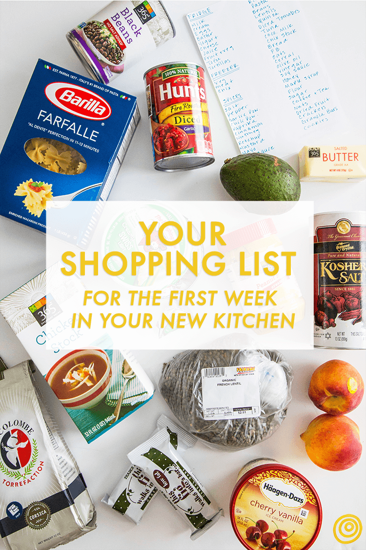 A Shopping List for the First Week in Your New Kitchen | New ...
