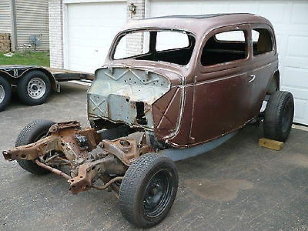 Ford other sedan 1935 ford 2 door slant back sedan frame for 1936 ford 2 door slant back