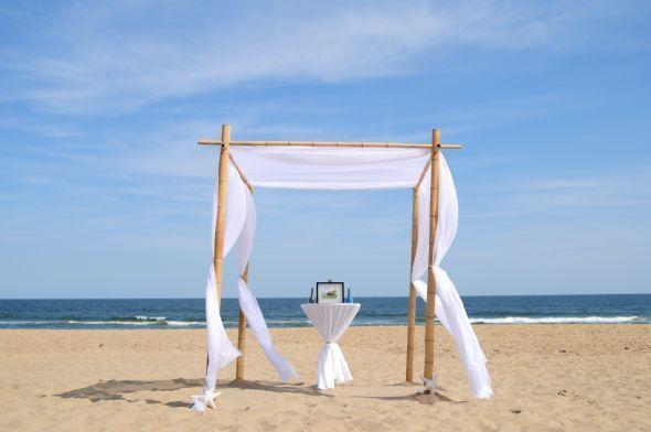 Beautiful BAMBOO wedding arbor : wedding arbor arch bamboo beach ...