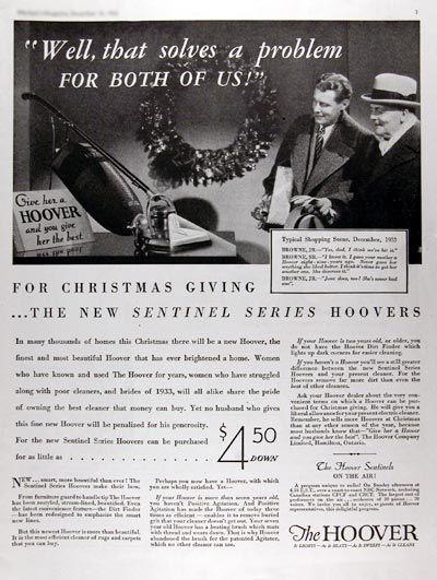 1933 hoover vacuum cleaner original vintage advertisement