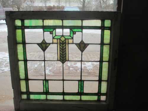 Vintage Chicago Bungalow Arts And Crafts Style Stained Glass Window Ebay Stained Glass Art Stained Glass Glass Window