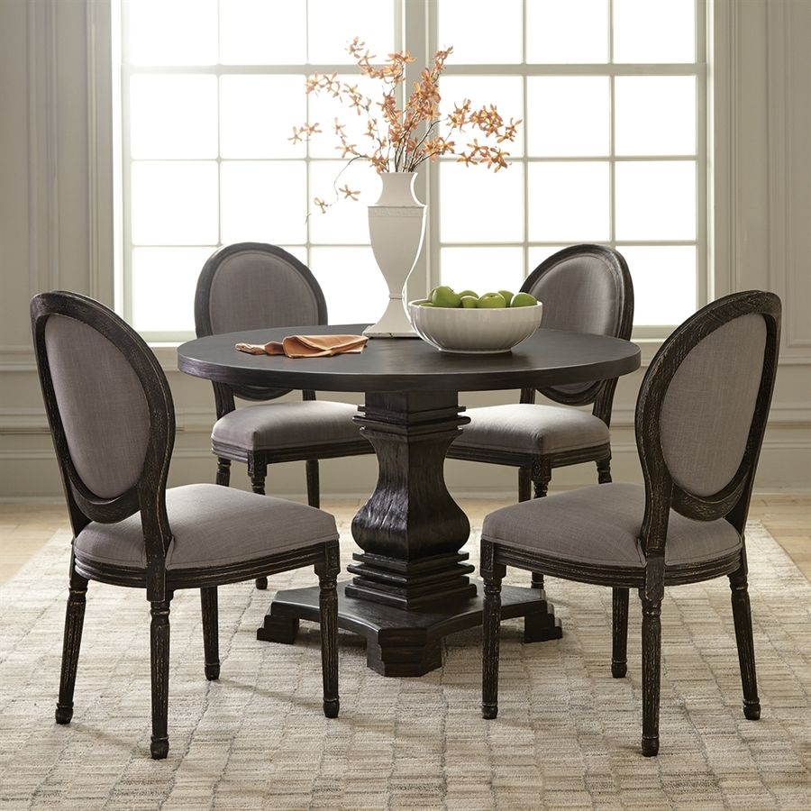 Scott Living Antique Black Round Dining Table Lowes.com  Round