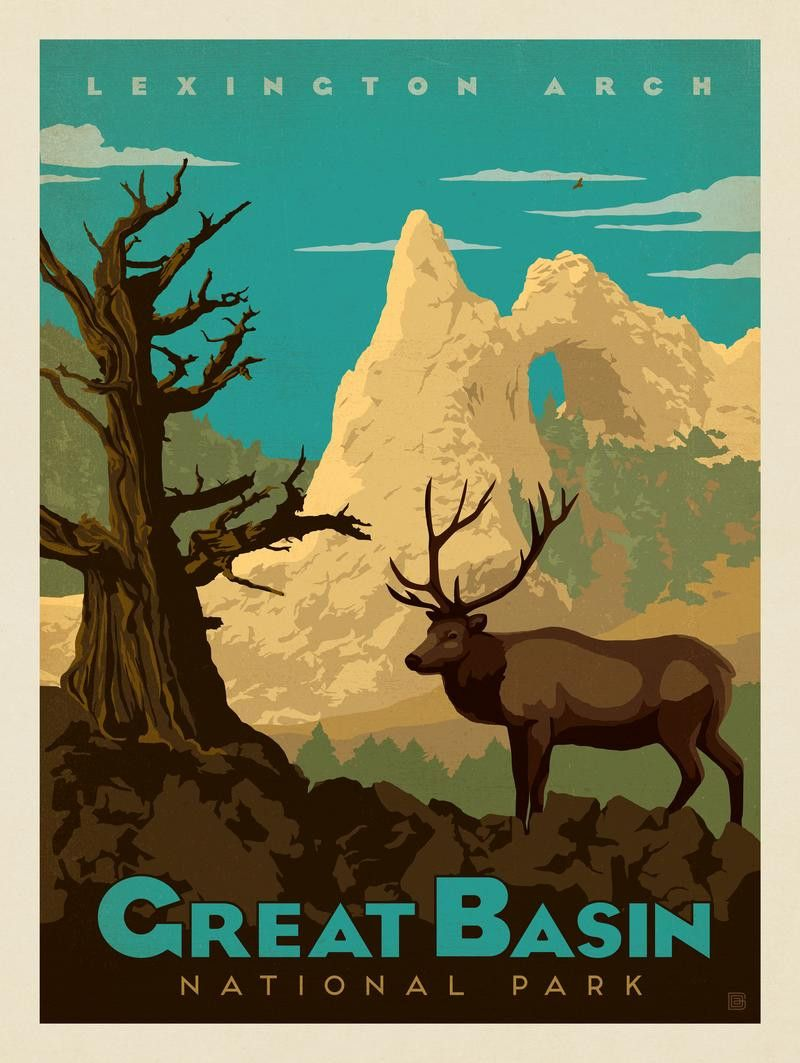 Great Basin National Park NP Illustrations Pinterest Basin