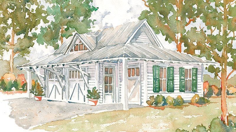 This Garage Plan Was Designed To Accompany The Tideland Haven Sl 1375 And New Tideland Haven In 2020 Southern Living House Plans Guest House Plans Best House Plans