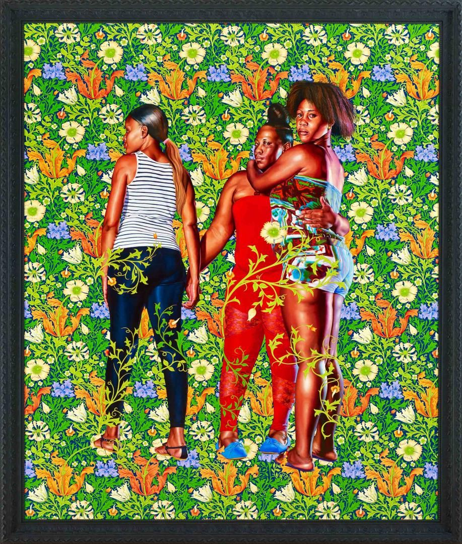 Kehinde Wiley - Naomi and her Daughters