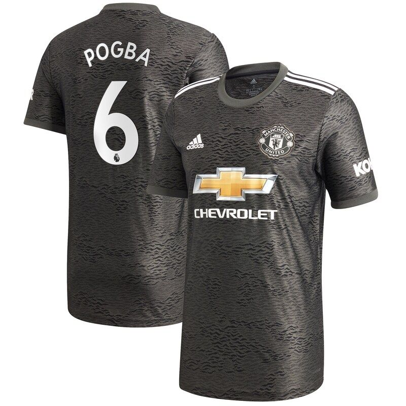 paul pogba manchester united adidas 2020 21 away replica player jersey green in 2020 manchester united manchester united shirt manchester united fans paul pogba manchester united adidas