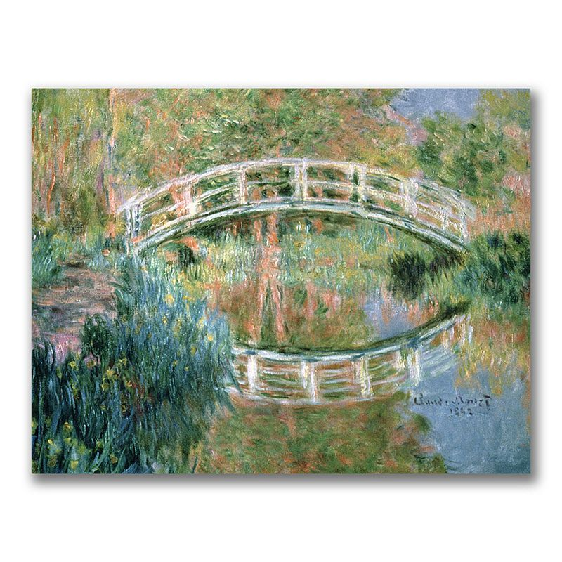 The Japanese Bridge, Giverny'' Canvas Wall Art by Claude Monet, Multicolor