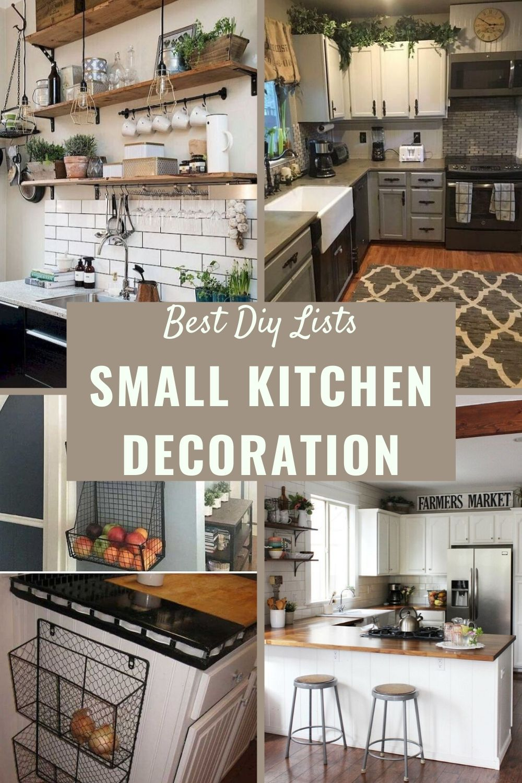 Small Kitchen Decoration Ideas In 2020 Kitchen Decor Small Kitchen Decor Cottage Kitchen Design