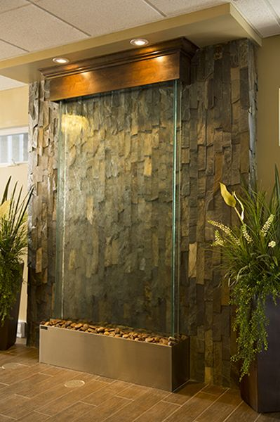 indoor waterfall wall water walls