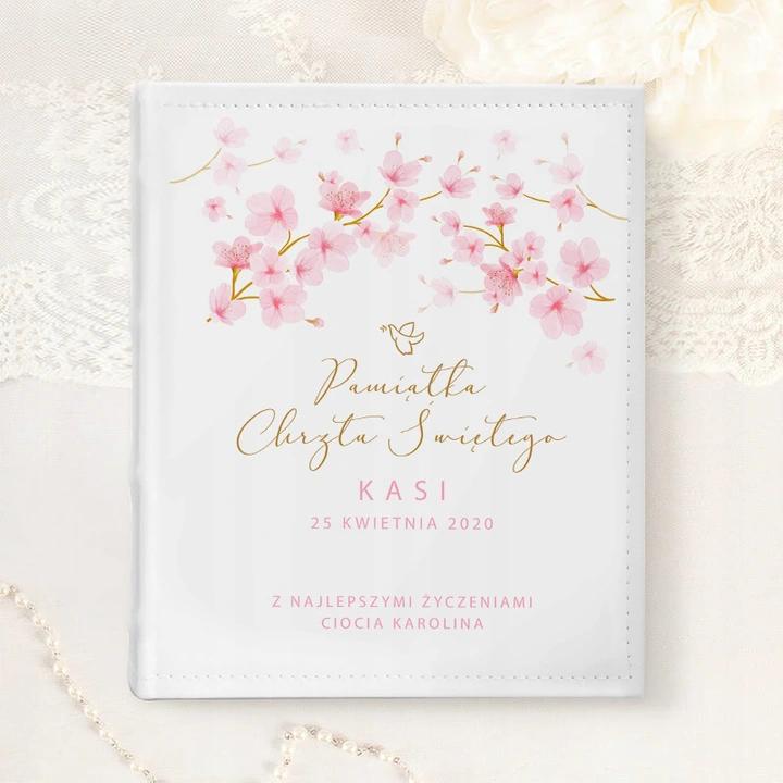 Album Na Zdjecia Prezent Chrzest Rozowe Magnolie Kids Cake Book Cover Kids