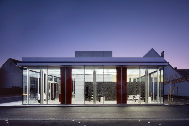 Project Branch Bank In Hettingen Architizer Architect Banks Building Architecture