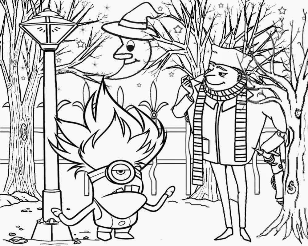 Spooky Moonlit Night Ghostly Woodland Despicable Me Single Eye Evil Minion Coloring Page Minions Coloring Pages Halloween Coloring Pages Monster Coloring Pages