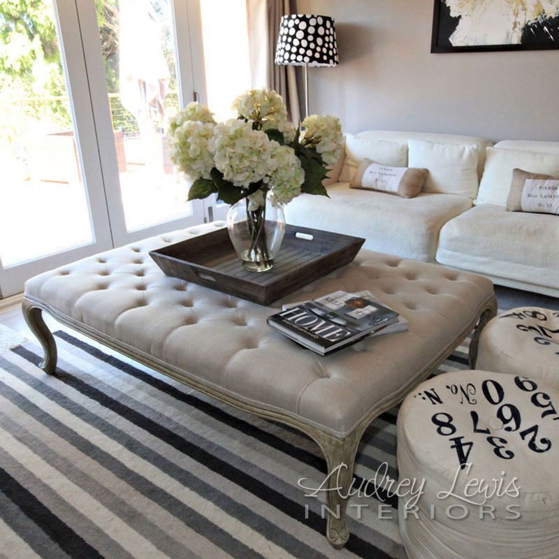Pin By Bella G On Living Roomin It Up Large Ottoman Coffee