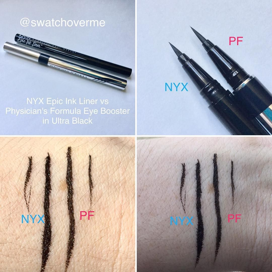 @swatchoverme) on Instagram: NYX Epic Ink Liner VS