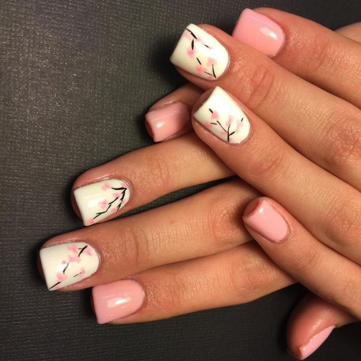 Cherry Blossom Nail Ideas | Mandy nails | Pinterest | Makeup