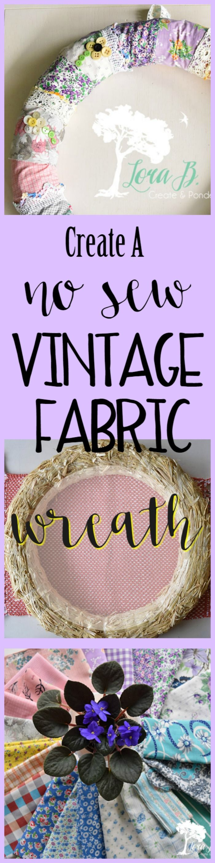 Photo of Easily DIY a Vintage Fabric Wreath if you love vintage trims.