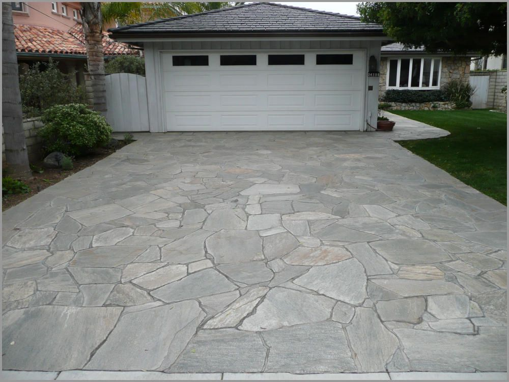 Unilock and natural stone driveway aprons and borders ...