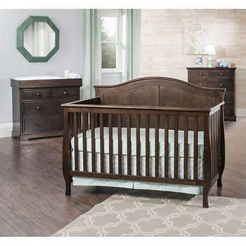 Harper 3-piece Convertible Crib Set - Brown | Baby Harding | Pinterest