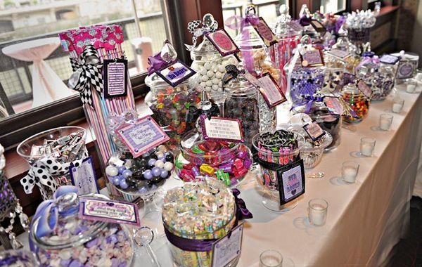 Candy Setups At Weddings