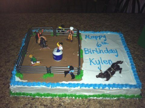 Bull Riding Cake Cool Cakes Pinterest Bull Riding