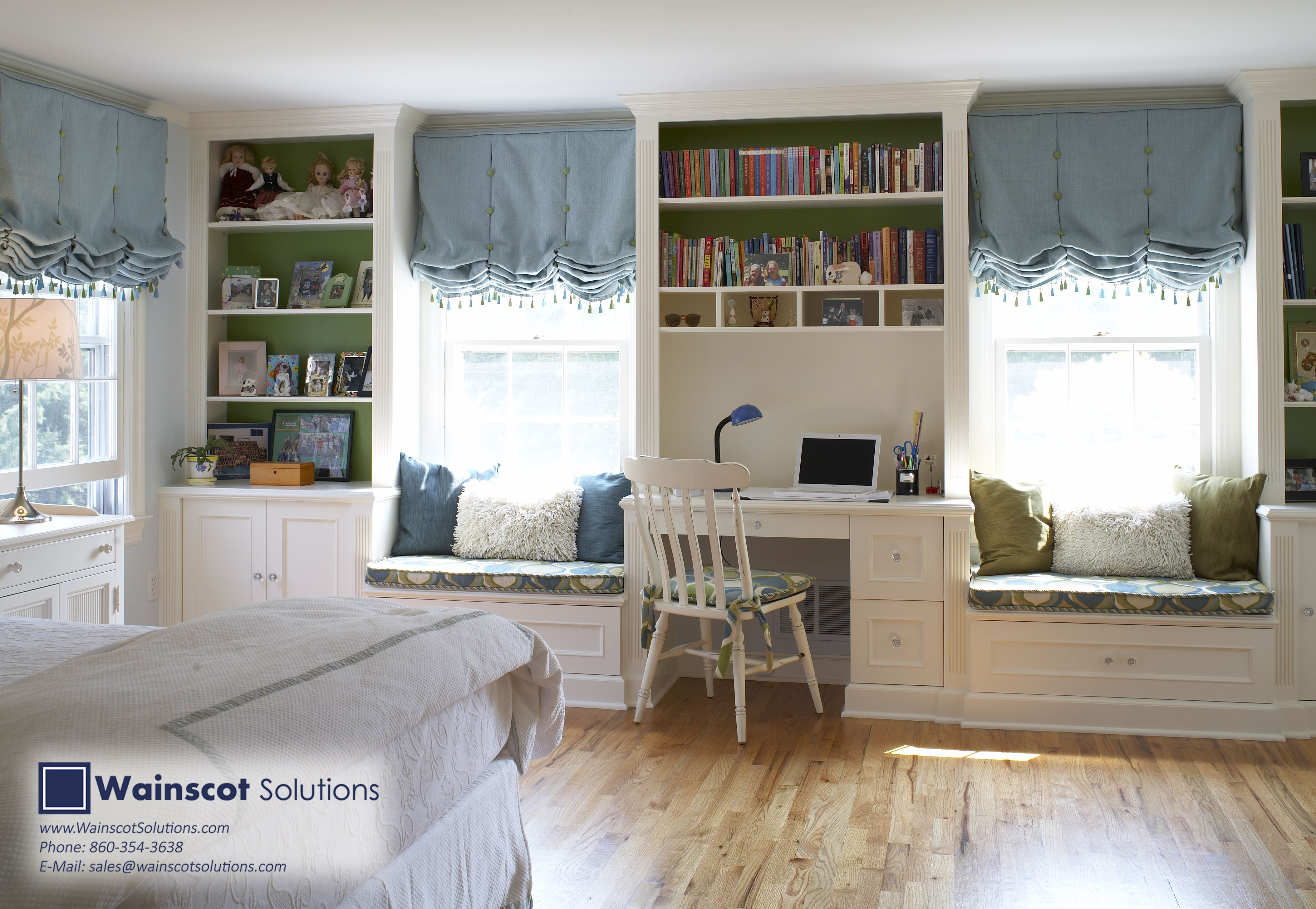 Builtin book shelves are the perfect way to add both