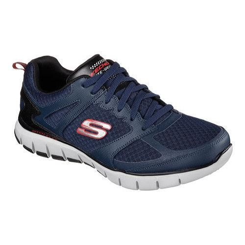 Men's Skechers Relaxed Fit Skech-Flex Power Alley Training Shoe Navy/