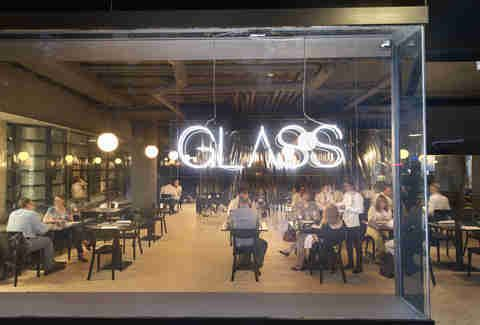 glass front window - Glass Front Cafe 2015
