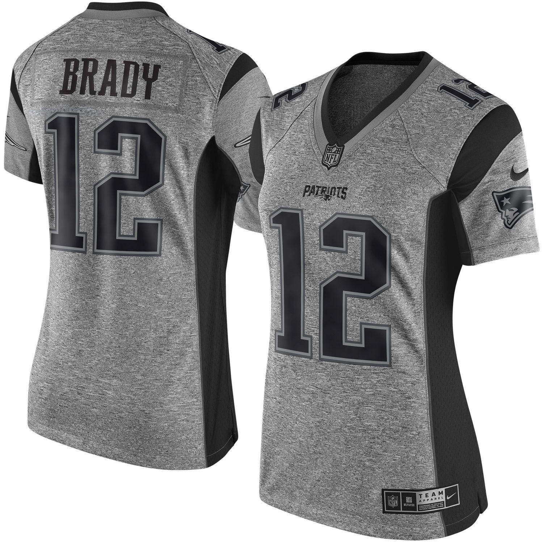 Nike Tom Brady New England Patriots Women's Gray Gridiron Gray ...