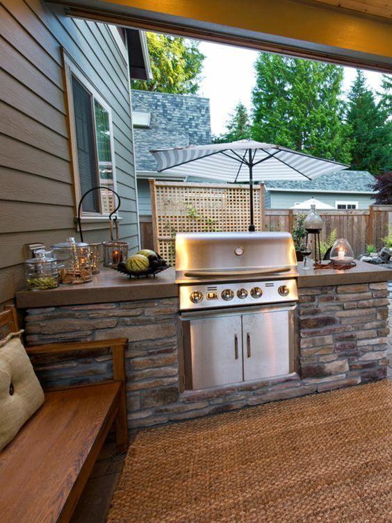 Comment bien aménager une cuisine extérieure? Grill station, Stone