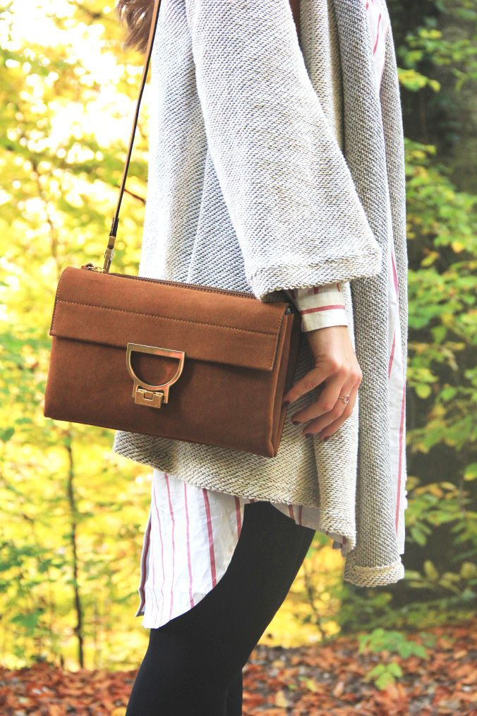 Coccinelle Arlettis Suede Shoulder Bag Perfect Fall