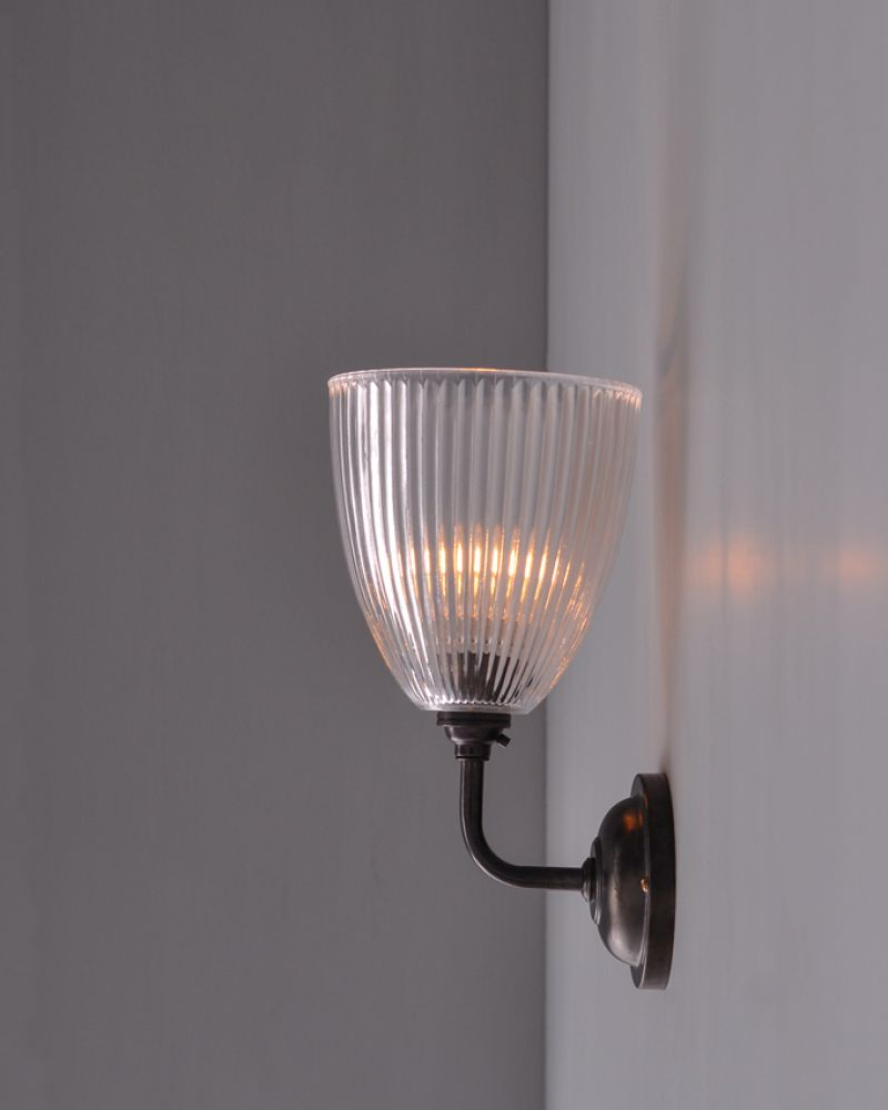 contemporary wall lighting. Peterstow Contemporary Wall Light 105, Can Fit Downwards, Diff Finishes Lighting