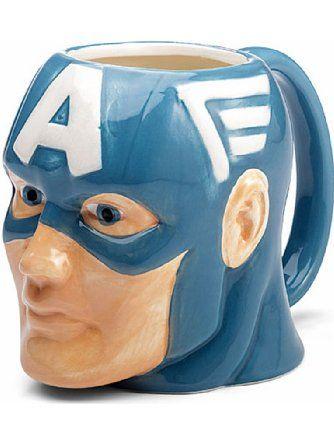 Marvel Superhero Molded Mugs 16oz - Captain America ❤ Classic Imports