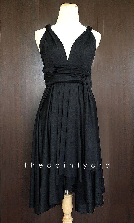 097dbca993f Black Bridesmaid Convertible Dress Infinity Dress Multiway Dress Twist Wrap  Dress