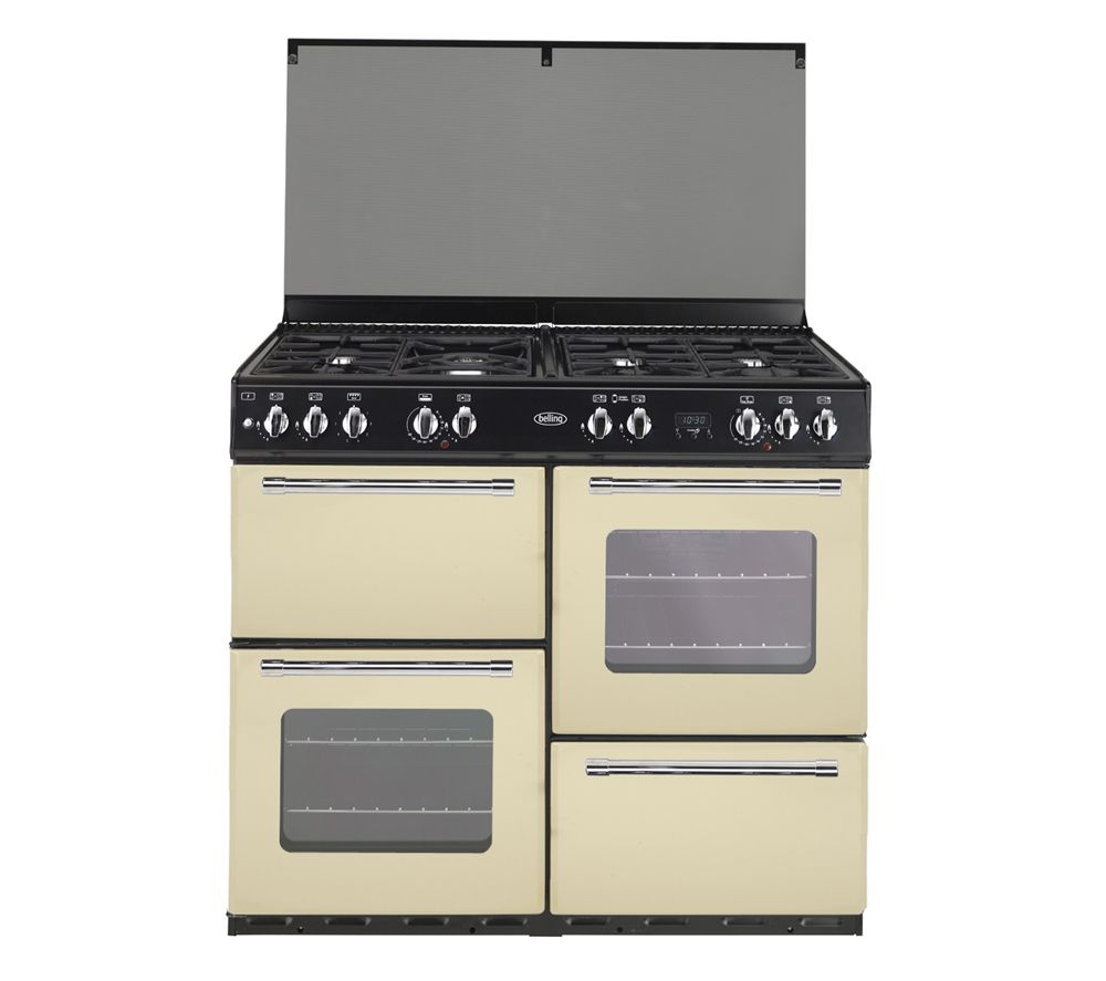 Uncategorized Belling Kitchen Appliances tr4110rw1 110 cm dual fuel range cooker red wine black belling country 1000gt gas cream