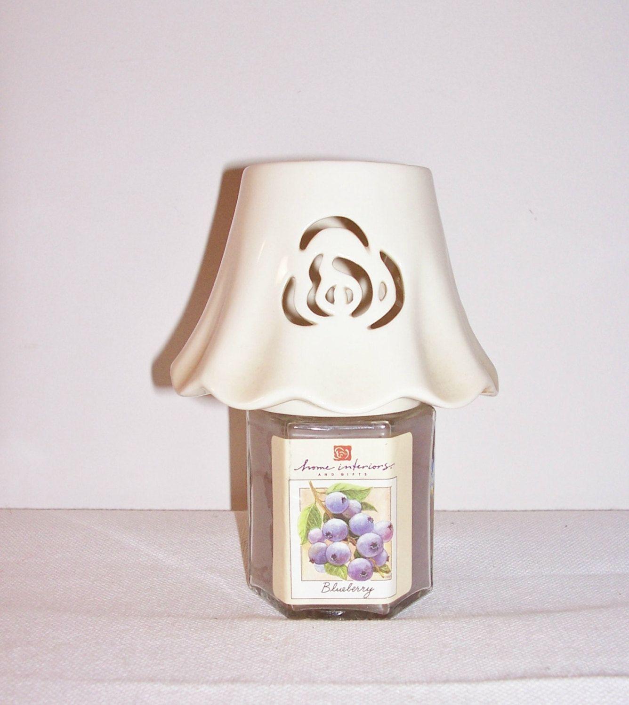 vintage home interiors candle jar topper candle lamp shade. Black Bedroom Furniture Sets. Home Design Ideas