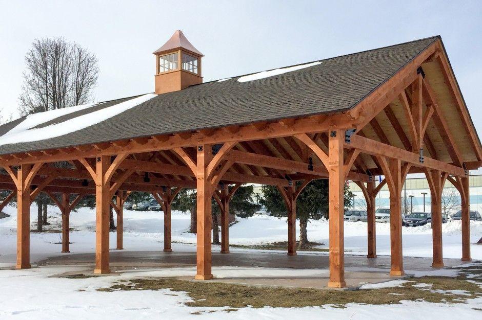 30 X 50 Timber Frame Pavilion At Wcsu In Danbury Ct Timber