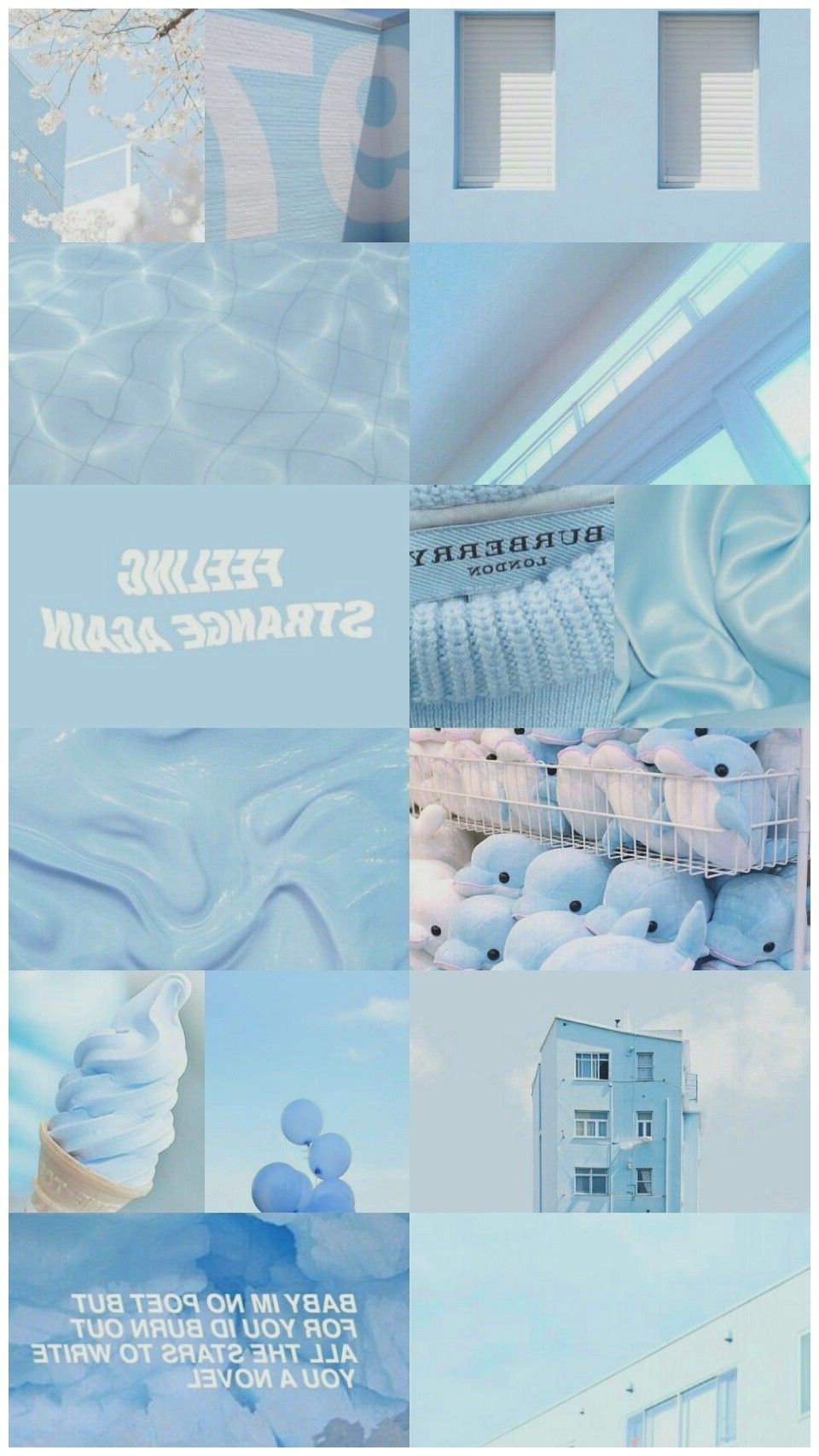 Pastel Aesthetic Wallpaper Estetika Biru Warna Aqua Biru