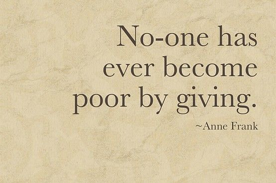Noone Has Become Poor Printable Printables Pinterest Quotes Simple Quotes About Donating