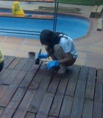 Suelos de palets para jard n suelos azotea pinterest for Cambiar suelo terraza sin obras