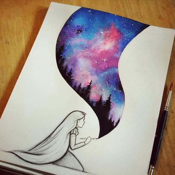 Cool Drawing Galaxy Painting Cool Drawings Disney Art