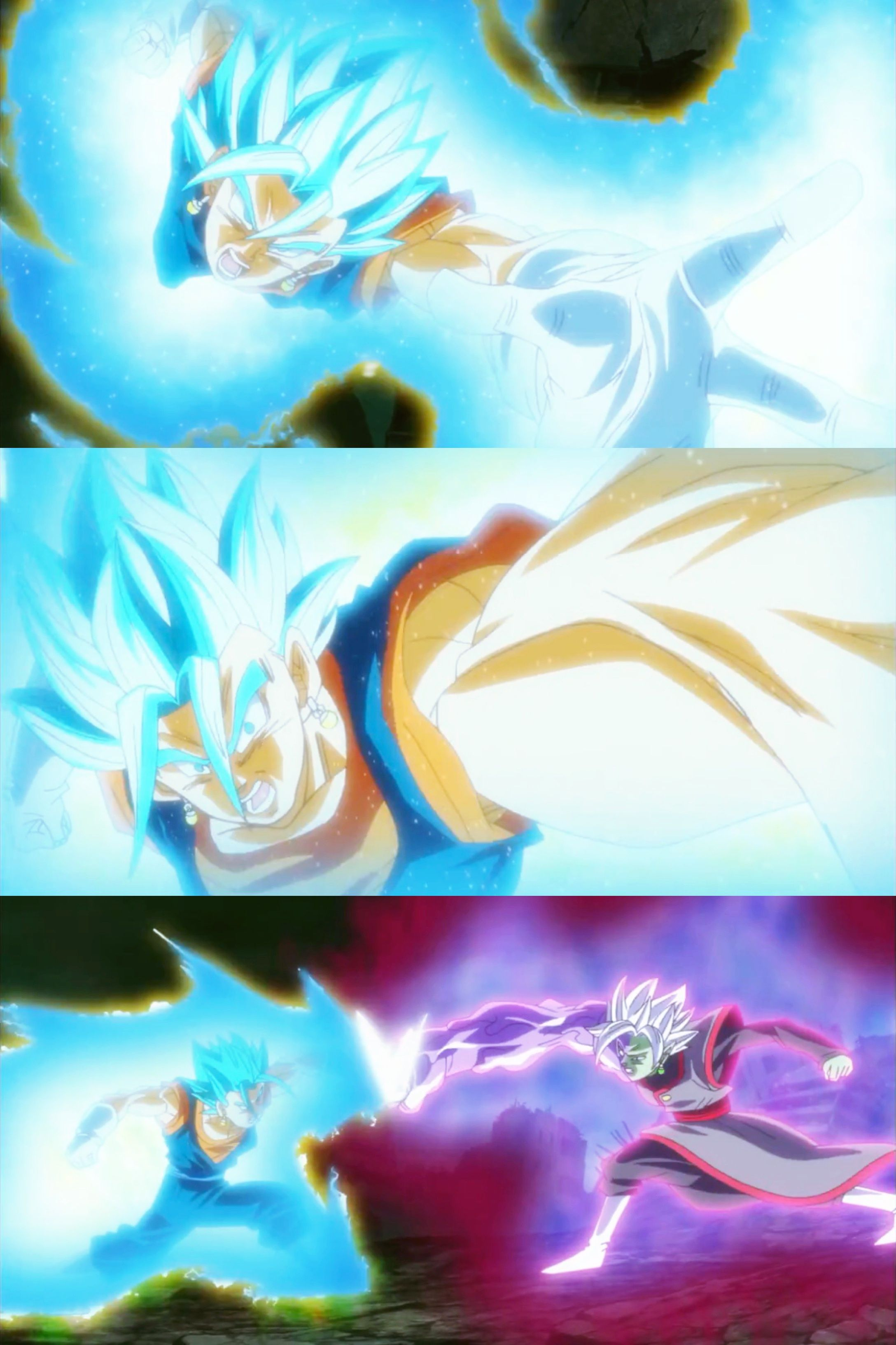 Epic Vegito Blue Vs Zamasu iPhone Wallpaper made with