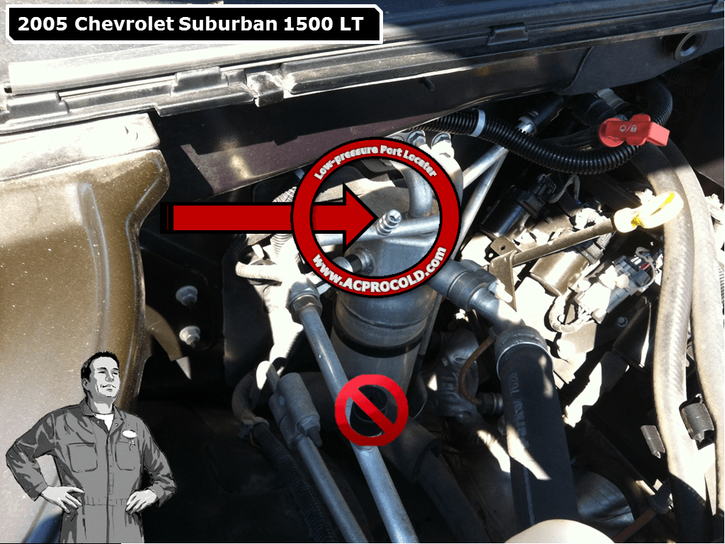 2005 Chevrolet Suburban 1500 Low Side Port for A/C