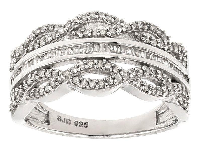 Princess Kylie 925 Sterling Silver Triple Row Ring