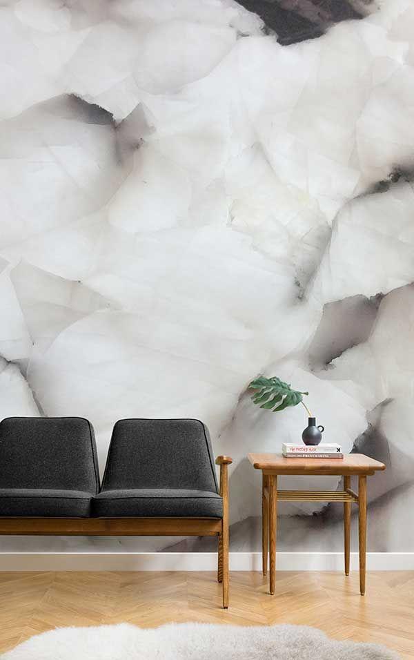 Serendibit Kristall Wandmalerei   Graue Tapete, Tapeten Wandbilder Und  Einfache Wohnzimmer