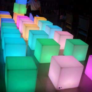 Great Night Club Different Sizes Multi LED Color Chair For Cube
