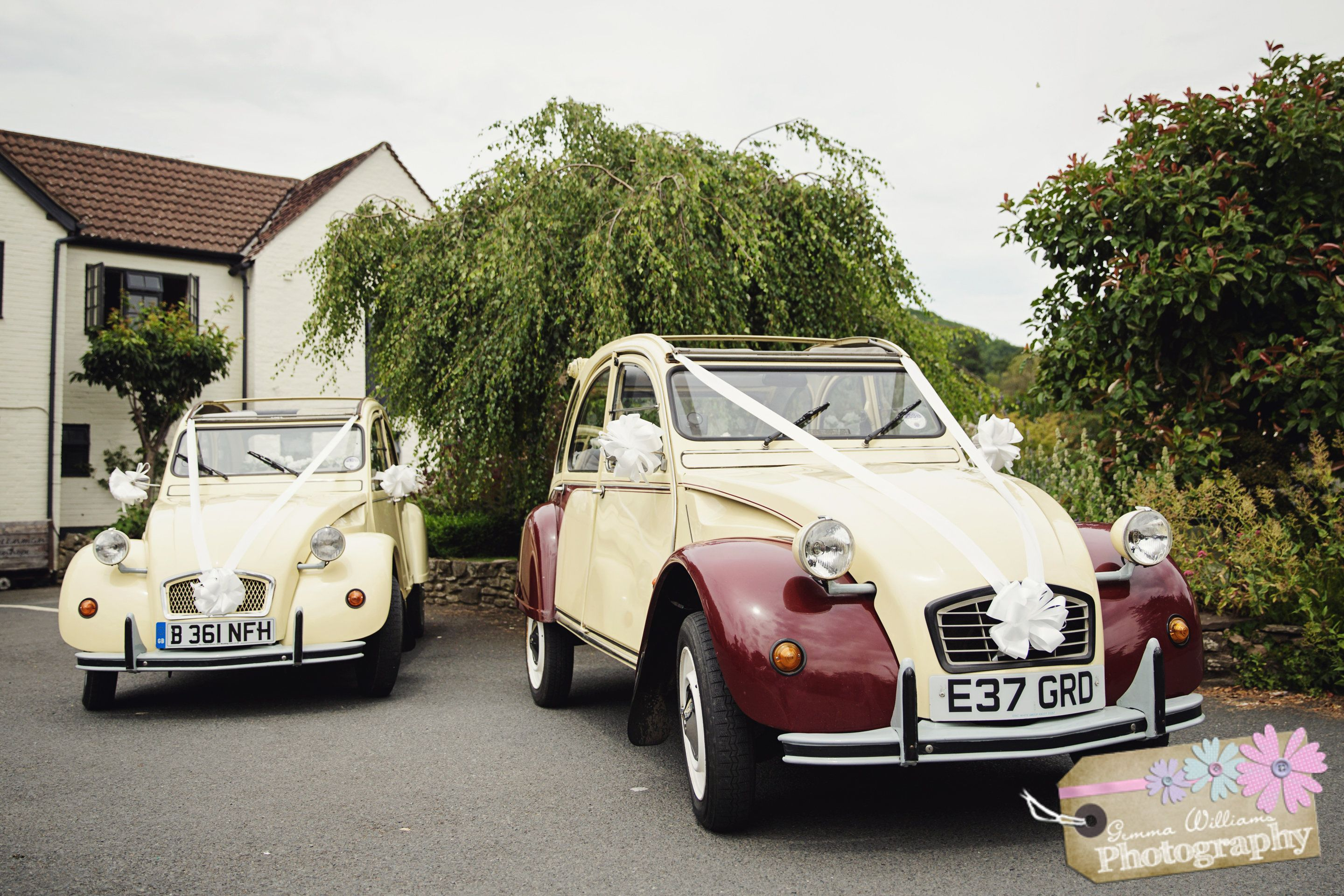 citroen 2cv wedding car