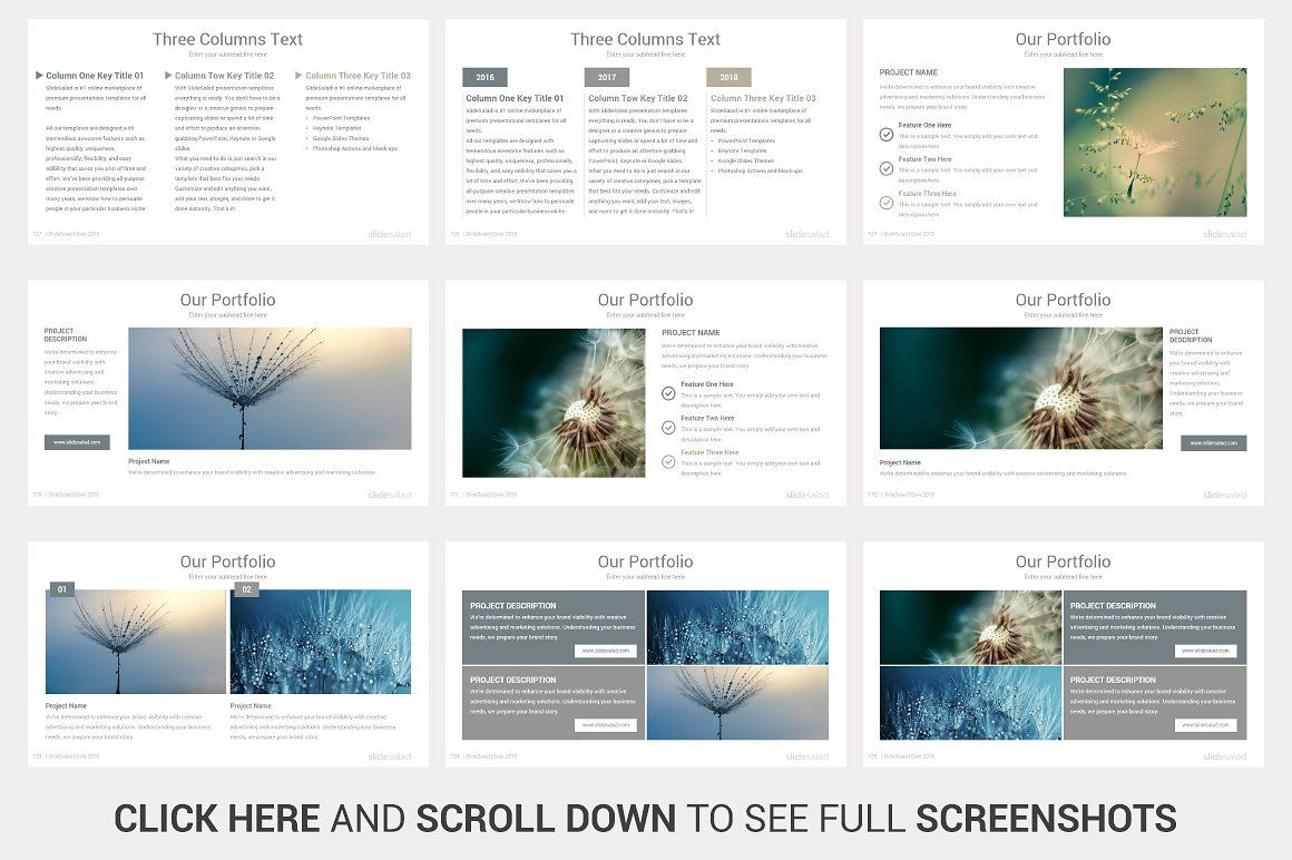 simplicity powerpoint template by slidesalad on creativemarket