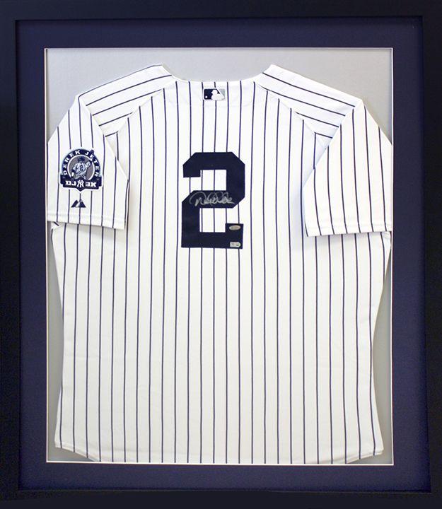 Custom Framed Derek Jeter Ny Yankee Jersey In Classic Yankee Blue