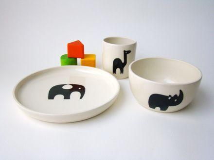 Kids Handmade Ceramic Tableware Set Animal Series Handmade Tableware Ceramic Tableware Handmade Ceramics
